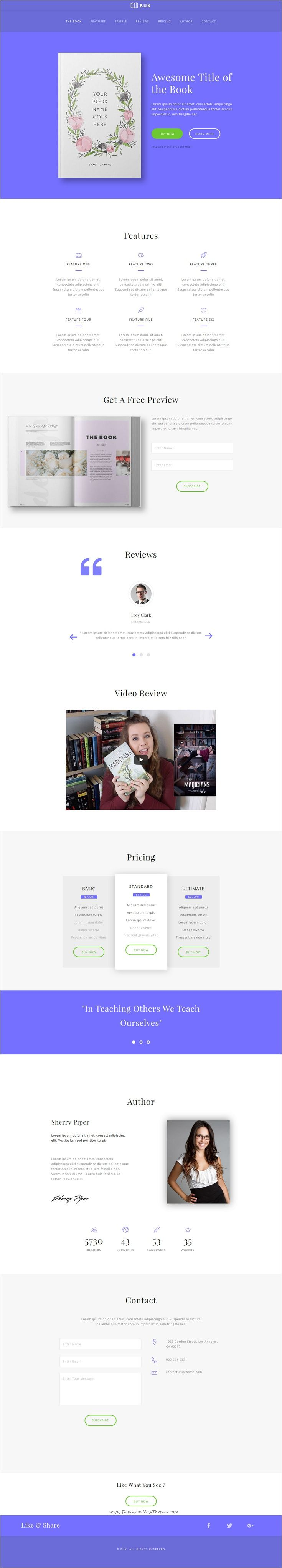 images about best adobe muse template collection on buk ebook landing page muse template