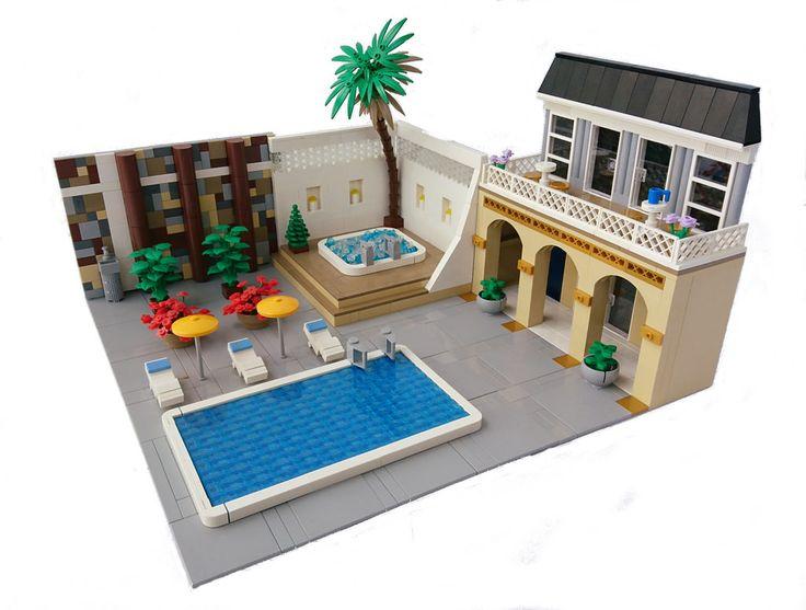 305 best lego water theme images on pinterest lego lego for Lego garden pool