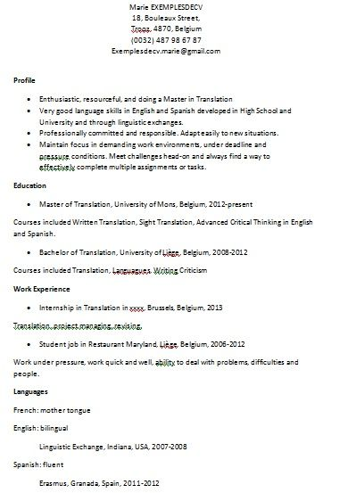 23 best Cv images on Pinterest Gardens, Hunting and Latex - bilingual on resume