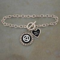 Custom Sobriety Date Alcohol Recovery Bracelet