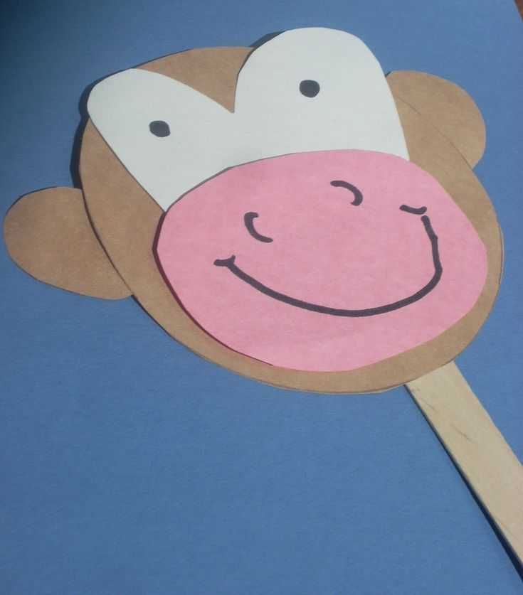 Cute craft for a monkey related book