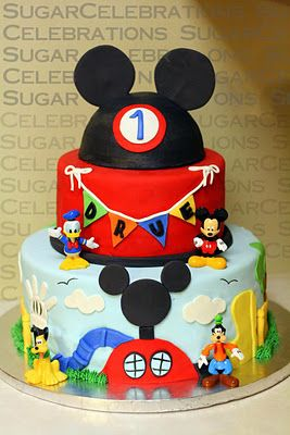 Mickey Mouse Clubhouse cake... idea for my nephew's birthday