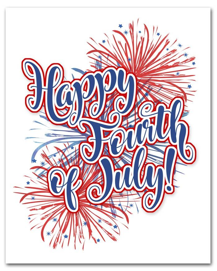 Simple Happy Fourth Of July Free Printable In An 8x10 Format Happy Fourth Of July Fourth Of July Quotes Fourth Of July