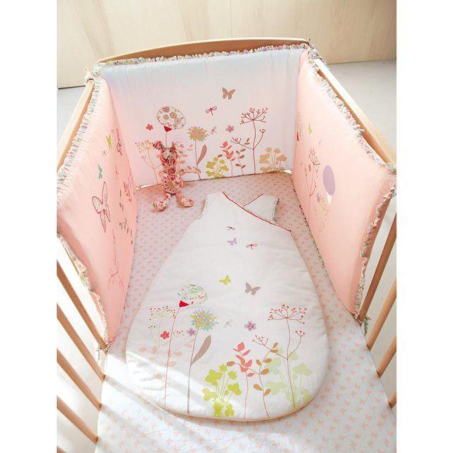 tour de lit th me floril ge vertbaudet prix avis notation livraison po tique cette petite. Black Bedroom Furniture Sets. Home Design Ideas