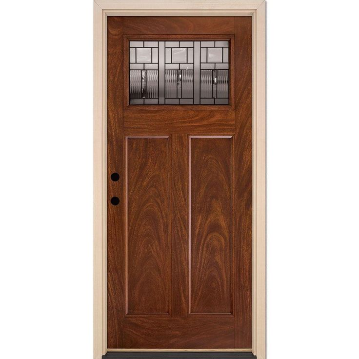 Feather River Doors Seville Patina Craftsman Stained