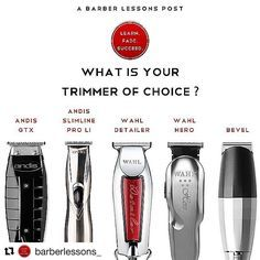 #Repost @barberlessons_ (@get_repost) What's your trimmer of choice?? These are arguably the best tools on the market! . Drop your choice below ========================= Post Notifications On?? . Haircuts | Tutorials | Barbers Follow us @barberlessons_ ========================= #TBT #trimmers #liners #clippers #menshair #menshaircut #menshaircuts #mensgrooming #menstyle #barber #barbers #barbero #barbearia #andis #wahl #bevel