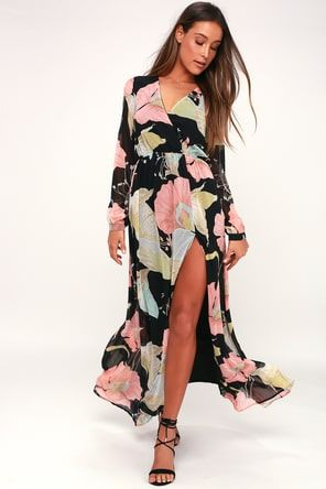 31adca3634 Montecito Black Print Maxi Dress in 2019 | Shangri-la las | Floral ...
