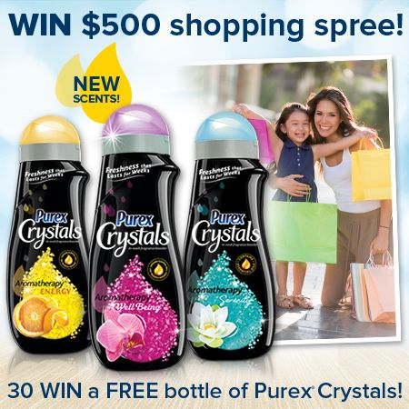 Enter to WIN a $500 shopping spree and a year's supply of NEW @Purex Crystals Aromatherapy!