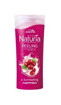 Peeling myjący do ciała z żurawiną Naturia body. Skóra jest odświeżona i oczyszczona, gładka i miła w dotyku oraz przyjemnie pachnąca.