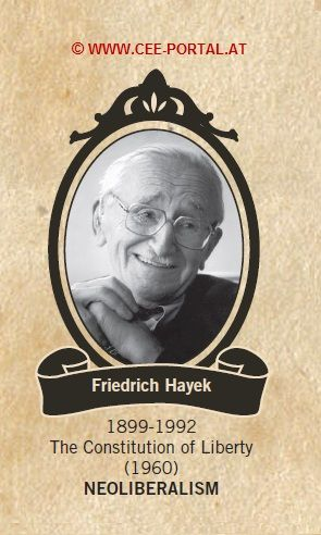 Friedrich Hayek 1899-1992 The Constitution of Liberty (1960) NEOLIBERALISM