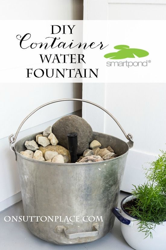 This DIY Container Water Fountain is so easy and fast. Add the sound of a babbling brook to your outdoor space in no time! Budget friendly too.