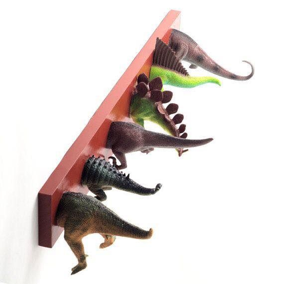 Dinosaur hooks....this is super cute for a little ones room!!!