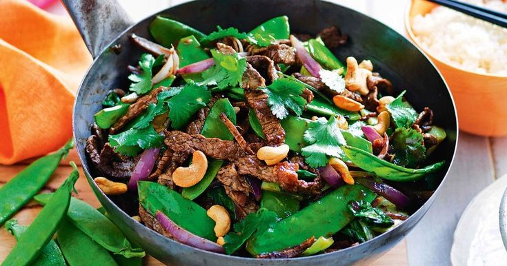 For a quick weeknight meal throw together this tasty beef, snow pea and black bean stir-fry.