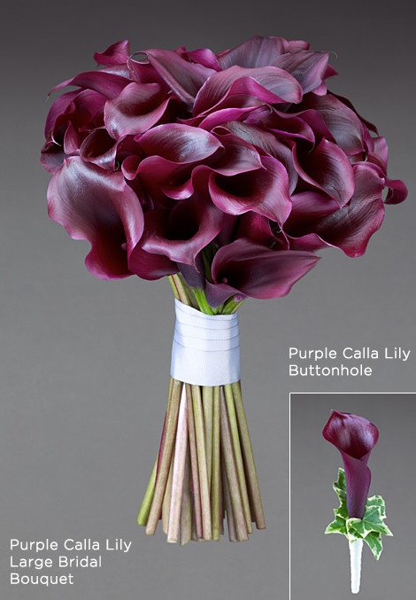 Buquê de Copo de Leite, flores naturalmente em degradê, de vinho mais escuro a quase branco.