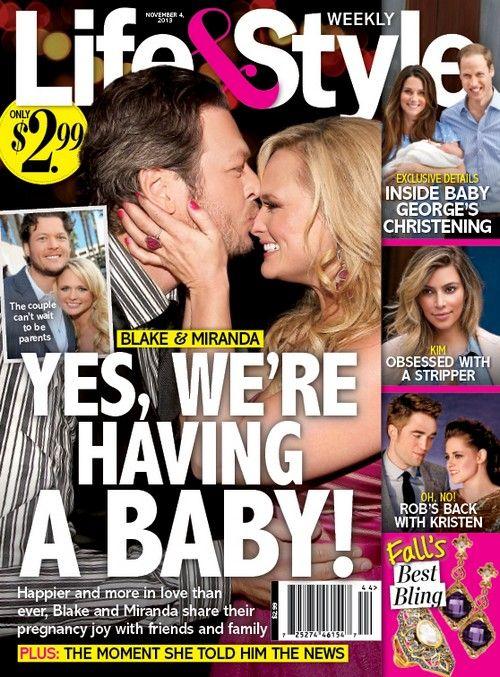 Miranda Lambert Pregnant With Blake Shelton's Baby: Hopes a Child Will Straighten Husband Out - Report (PHOTO) #MirandaLambert #BlakeShelton