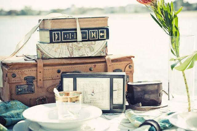 Vintage Travel Wedding Centrepiece