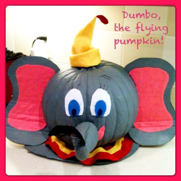 dumbo the flying pumpkin - Fake Halloween Pumpkins