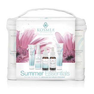 Kosmea Summer Essentials Pack - $29.95. Cleanse, Illuminate, Protect, Hydrate and Repair your skin with Kosmea's Summer Essentials Pack. Perfect for trial or travel with a selection of Kosmea's best-selling products all in a handy mesh cosmetic bag. Making this little beauty your answer to healthy glowing skin.. Naturally!