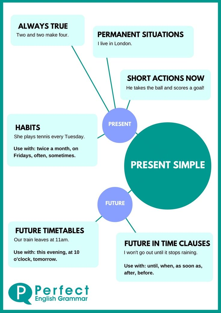 Present Simple Infographic