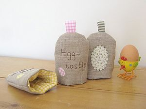 Handmade Linen Applique Egg Cosie