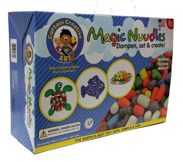 Build, decorate, and create anything you can imagine! Stick with a little water ... and melt with a lot! Magic Nuudles Corn Starch Building Blocks - Biodegradable Made in the USA