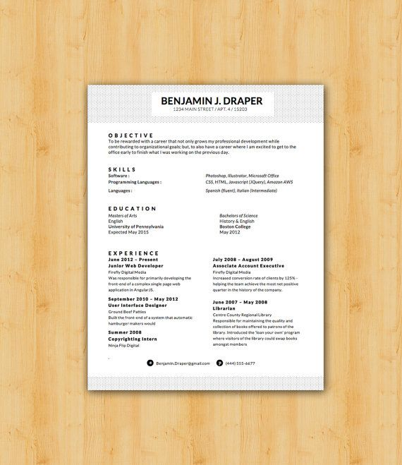 42 best Our Resume Templates images on Pinterest Resume templates