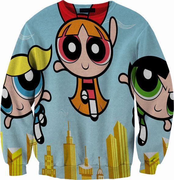 Powerpuff Girls Sweater Crewneck Sweatshirt by YeahWhateverz, $59.87