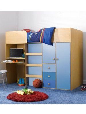 Metro Kids Mid-sleeper Bed, Desk and Storage, http://www.woolworths.co.uk/kidspace-metro-kids-mid-sleeper-bed-desk-and-storage/742287131.prd