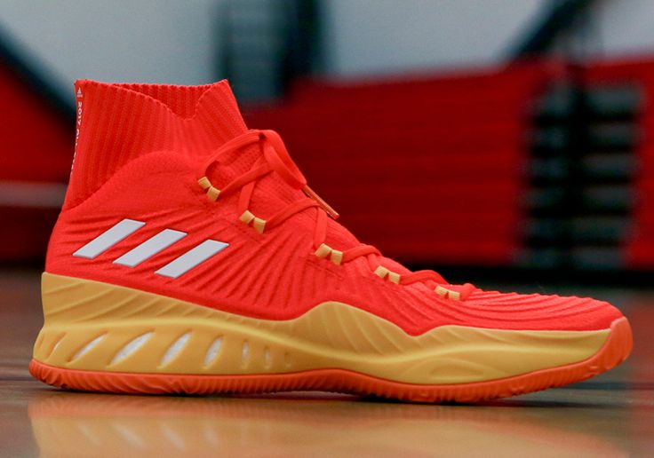 The adidas Crazy Explosive 17 Candace Parker WNBA All-Star PE features new Forged Primeknit in bright red with a yellow midsole. Details here: