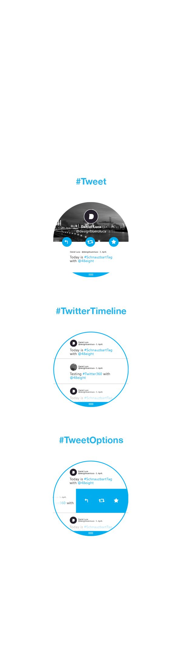 #twitter360 - Twitter for Moto360 (Concept) on Behance