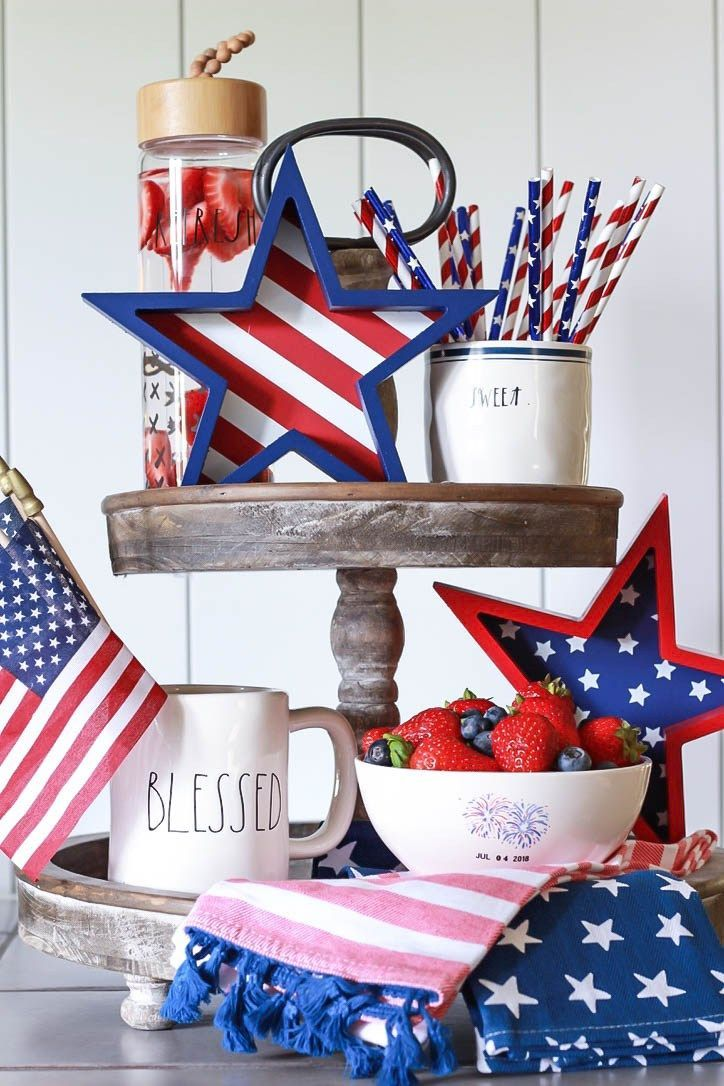 Vintage Inspired Fourth Of July Decor All Things Vintage Fourth