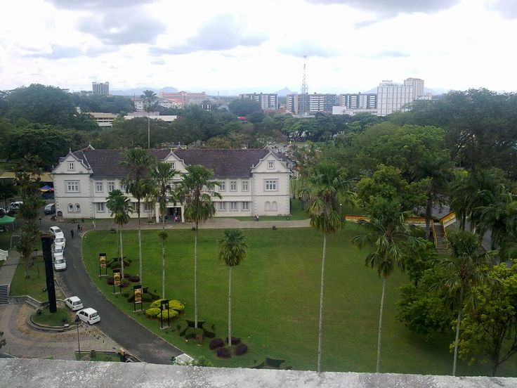 View of Sarawak Museum from top of Merdeka Palace Hotel