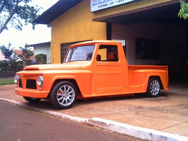Caçamba + Paralamas F75 ( Willys - rural) Stepside HOT