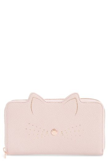 f25a6a934 Ted Baker London Cat Whiskers Leather Matinée Wallet
