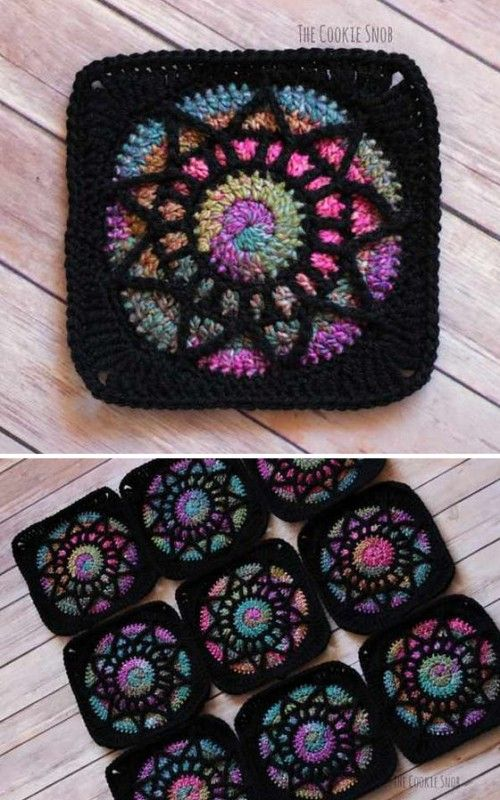 Stained Glass Square – Free Pattern (Beautiful Skills – Crochet Knitting Quilting)