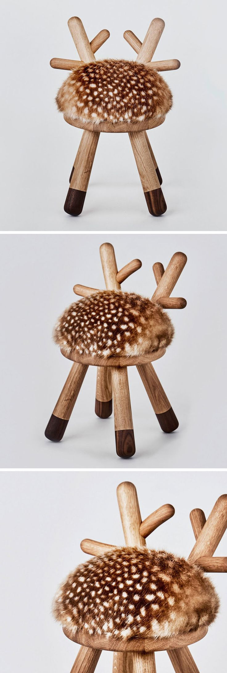 Japanese designer Takeshi Sawada, has designed Bambi as part of a collection of quirky farm animal inspired stools for EO - Elements Optimal.