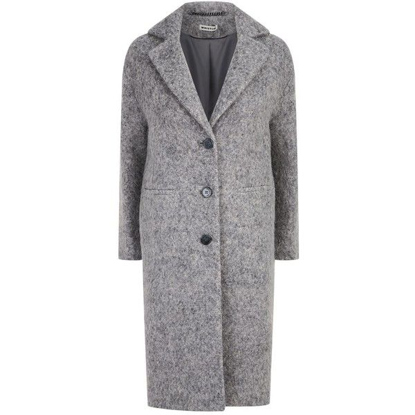 Whistles Slim Overcoat (5.254.860 IDR) ❤ liked on Polyvore featuring outerwear, coats, texture coat, slim coat, over coat, wool blend coat and whistles coats