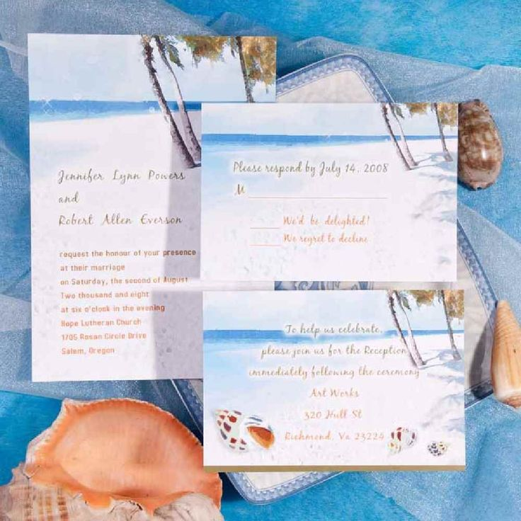 Beach chair wedding invitations