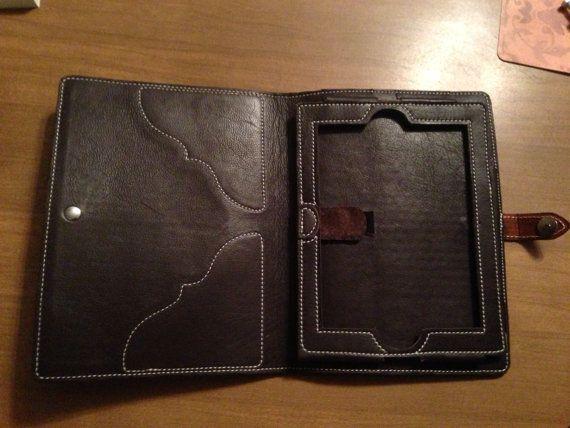 Hand tooled leather ipad case от WesternLeatherCo на Etsy