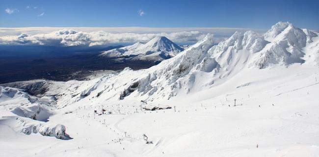 Whakapapa Mt Ruapehu ski field in winter. Loving the snow covered landscape.
