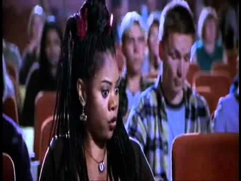 Brenda talking in the movie theater in Scary Movie. @Melissa Sasaoka does an impression of her that's really funny!