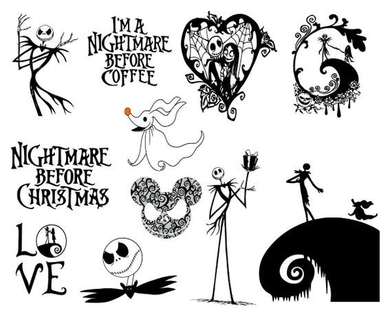 Download 37 Nightmare Before Christmas SVG Vector Clipart Nightmare ...