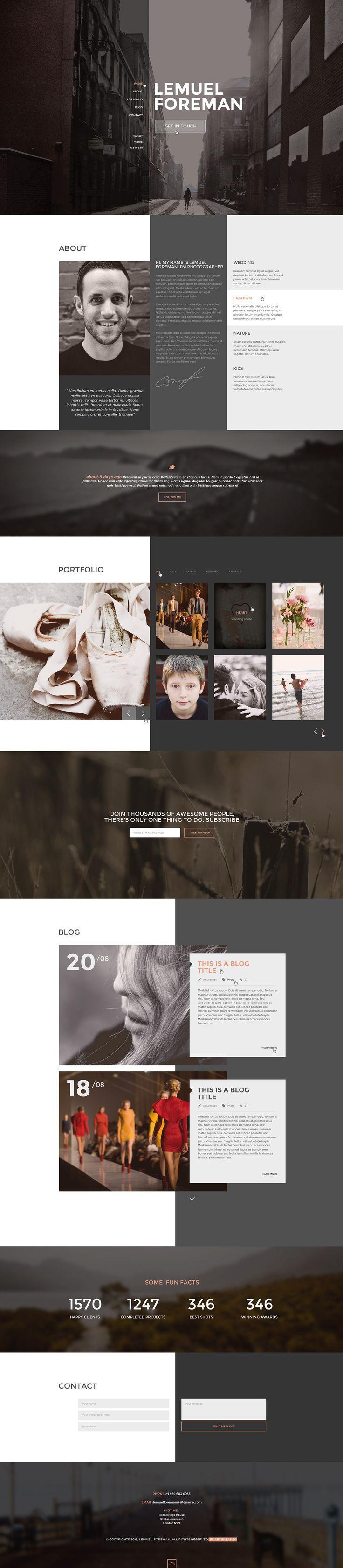 LF - One Page Multi Purpose Parallax HTML Theme on Behance