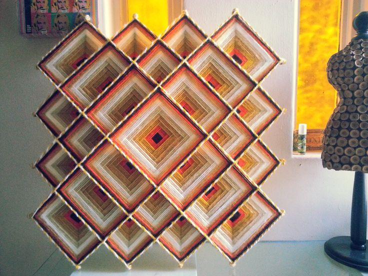 Paz del Desierto, mandala Tibetano de 60 cms. realizado en hilo acrílico