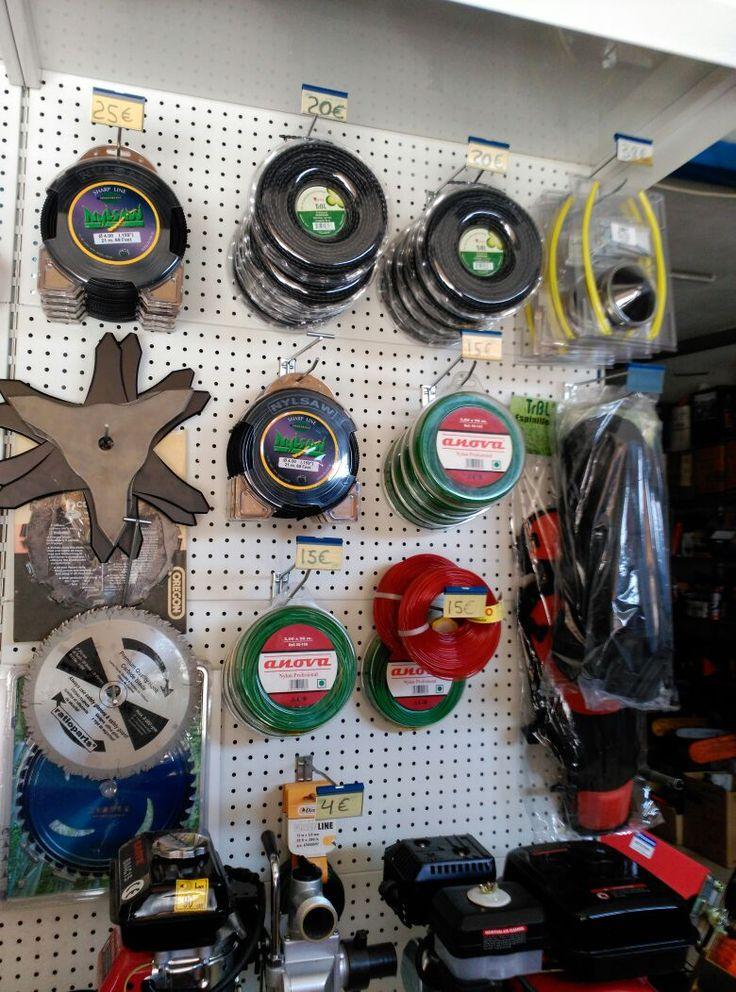 Hilos discos y espinilleras de desbrozadoras venta de for Articulos para jardineria