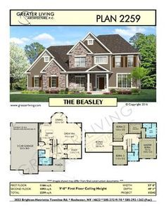 Plan 2259: THE BEASLEY- Two Story House Plan - Greater Living Architecture - Residential Architecture