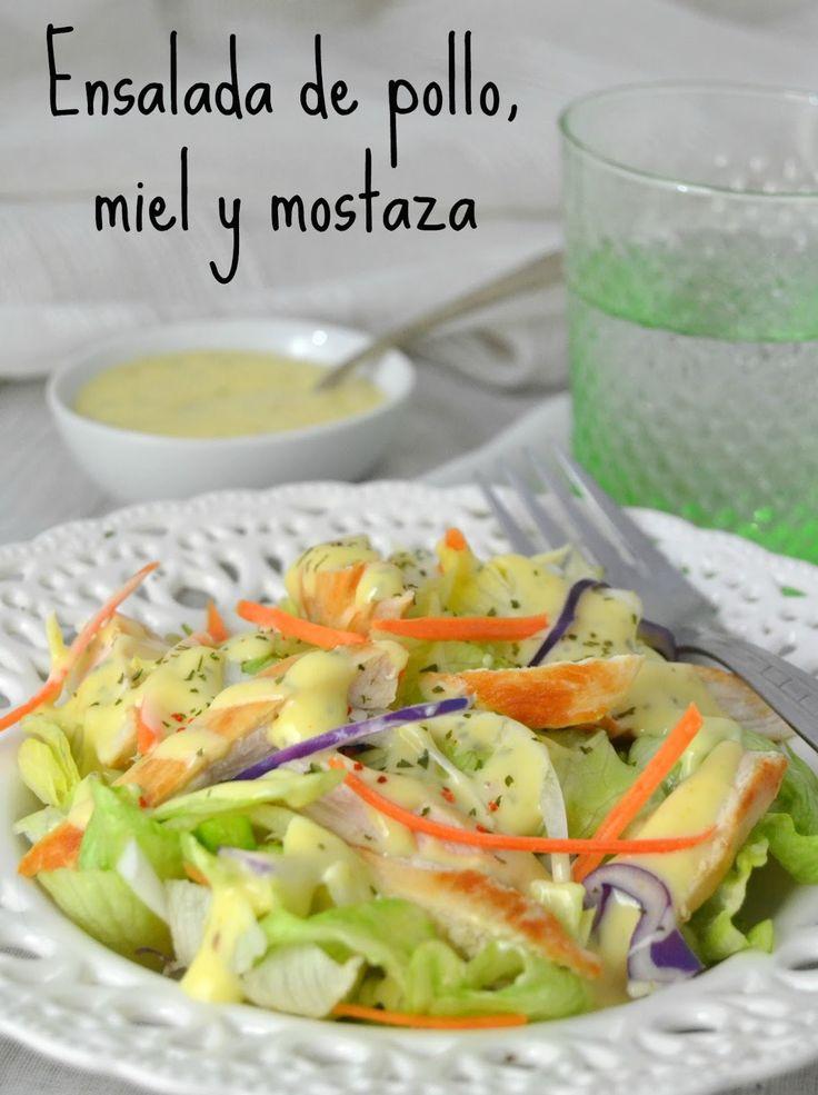 Ensalada de pollo, miel y mostaza | Cuuking! Recetas de cocina