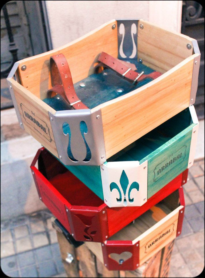 Cajones de madera para bicicletas Personalizados