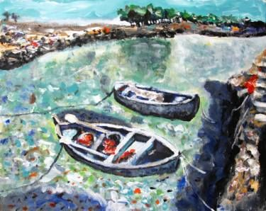 """Saatchi Art Artist Paolo Cervino; Painting, """"About poetry 76- Two boat"""" #art"""