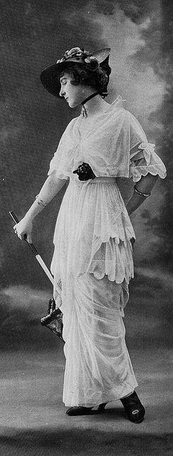 Les Modes (Paris) 1914 Robe de Courses. Cauet